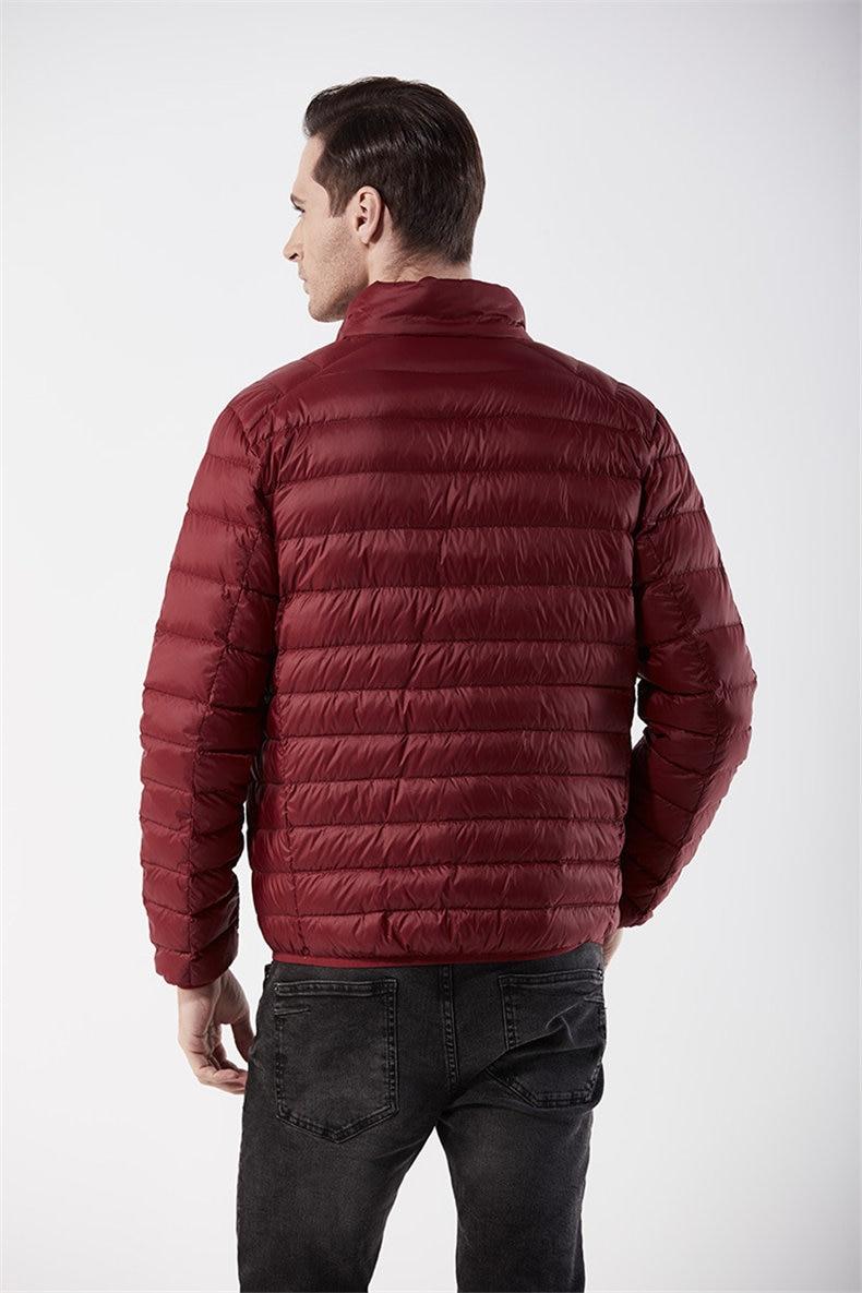 Customized White Duck Down Jacket Men Winter Ultralight Light Male Parka Coats Man Brand Clothing Water Resistant Outwear Autumn9
