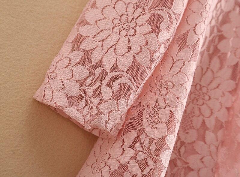 Encaje Gasa Del Manga Ch290 Sólido Pink Outwear Casual Hueco red Blusa Primavera Mujeres Camisa De Salvaje black Nueva Gancho white Flor Larga Suelto wqgZIvEI
