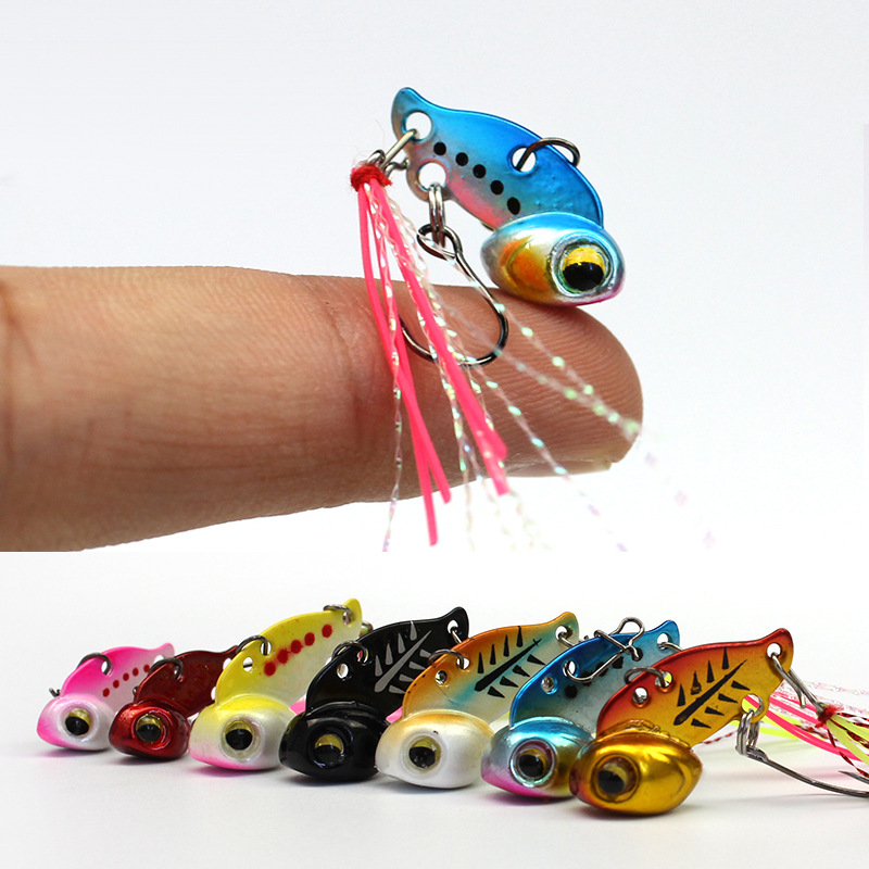 NEW Winter Ice Fishing Hook VIB Lure Mini Metal Bait Fish 26mm/6g Lead Head Hook Bait Jigging Fishing Tackle All for Fishing 50pcs new wifreo soft lure loader locker connector fishing worm hook bait accessories for bass fishing wholesale