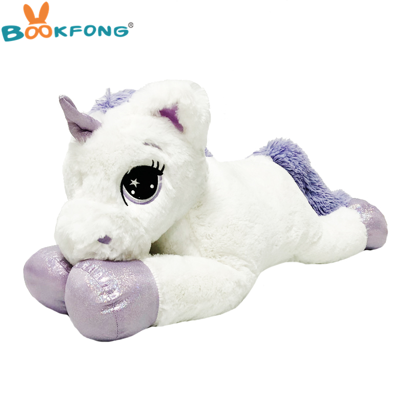75cm Giant Unicorn Plush Toy Big unicorn Doll Cute Animal Stuffed Unicornio Soft Pillow Baby Kids Toys for Girls birthday Gift cute bunny soft plush rabbit stuffed animal toy appease baby bed pillow toy kids baby girls kawaii kid baby birthday gift