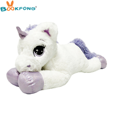 75cm Giant Unicorn Plush Toy Big unicorn Doll Cute Animal Stuffed Unicornio Soft Pillow Baby Kids Toys for Girls birthday Gift
