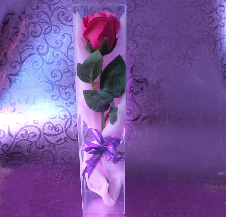 Transparent Packaging PVC Box Special Packing for Roses Toy Display Box Wedding Party Flowers Package Gift Box 4
