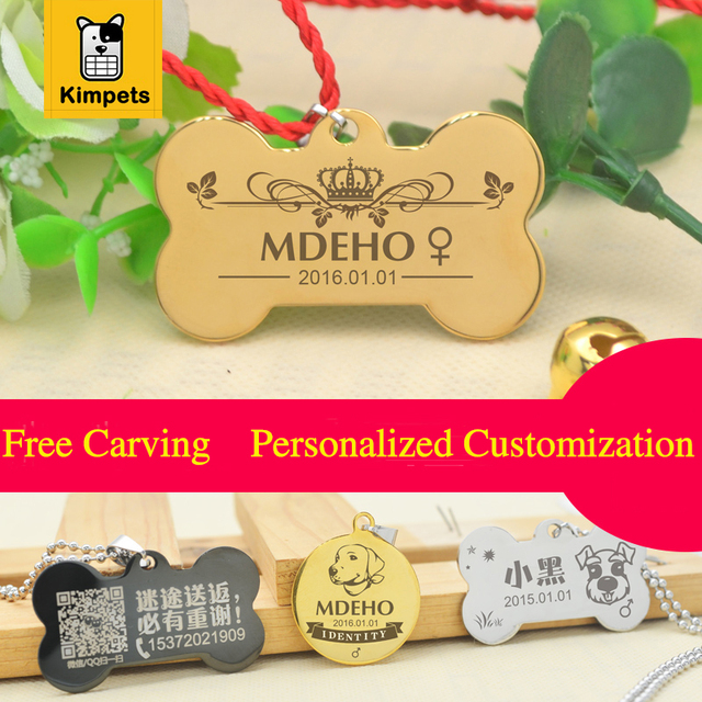 2017 New Free Engraving Personalized Pet Tag Identification Customized Dog Tag The Name Phone Any Text for The Pet Accessories