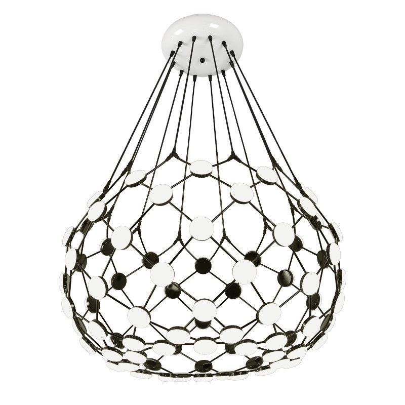 Modern Black White Chess Piece Pendant Light Globe Earth Suspension Ceiling Lamp New for Living Room Bedroom Dinning Room B043