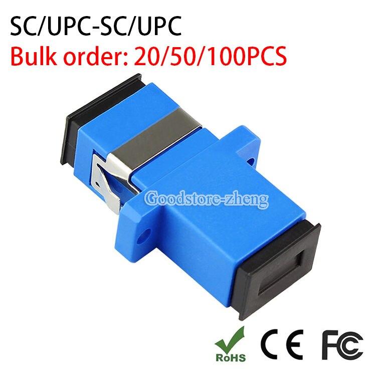 20/50/100 PCS SC UPC Simplex mode Fiber optic Adapter SC Optical fiber coupler SC Fiber flange SC UPC connector