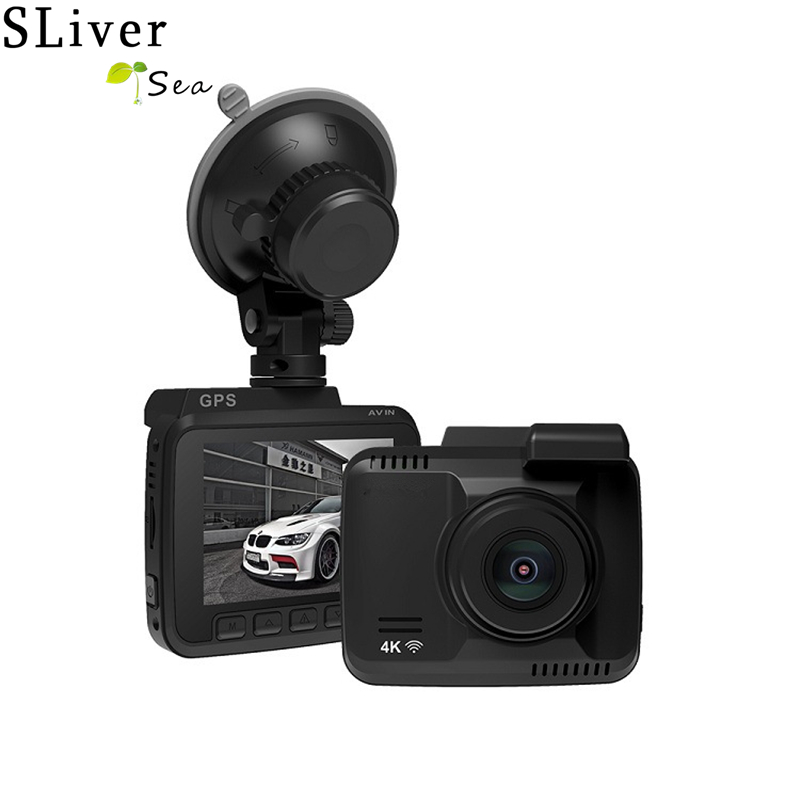 SLIVERYSEA Dual Lens WiFi FHD 1080P Front + VGA Rear Car DVR Recorder 2880 x 2160P Dash Cam Novatek 96660 Camera Built in GPS bigbigroad for nissan qashqai car wifi dvr driving video recorder novatek 96655 car black box g sensor dash cam night vision