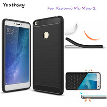 Youthsay For Phone Case Xiaomi Mi Max 2 Case Soft TPU Carbon Fiber Case For Xiaomi Mi Max 2 Cases For Xiao Max 2 Phone Cover(China)