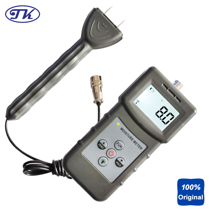 Pin Type Inductive Moisture Meter for Wood Timber Paper Bamboo Carton Concrete Textile MS360 mc 7806 wood moisture meter detector tester thermometer paper 50% wood to soil pin