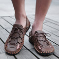 Vintage Mens Oxfords Lace Up Beach Gladiator Fashion Shoes Flip Flops US Size V9003