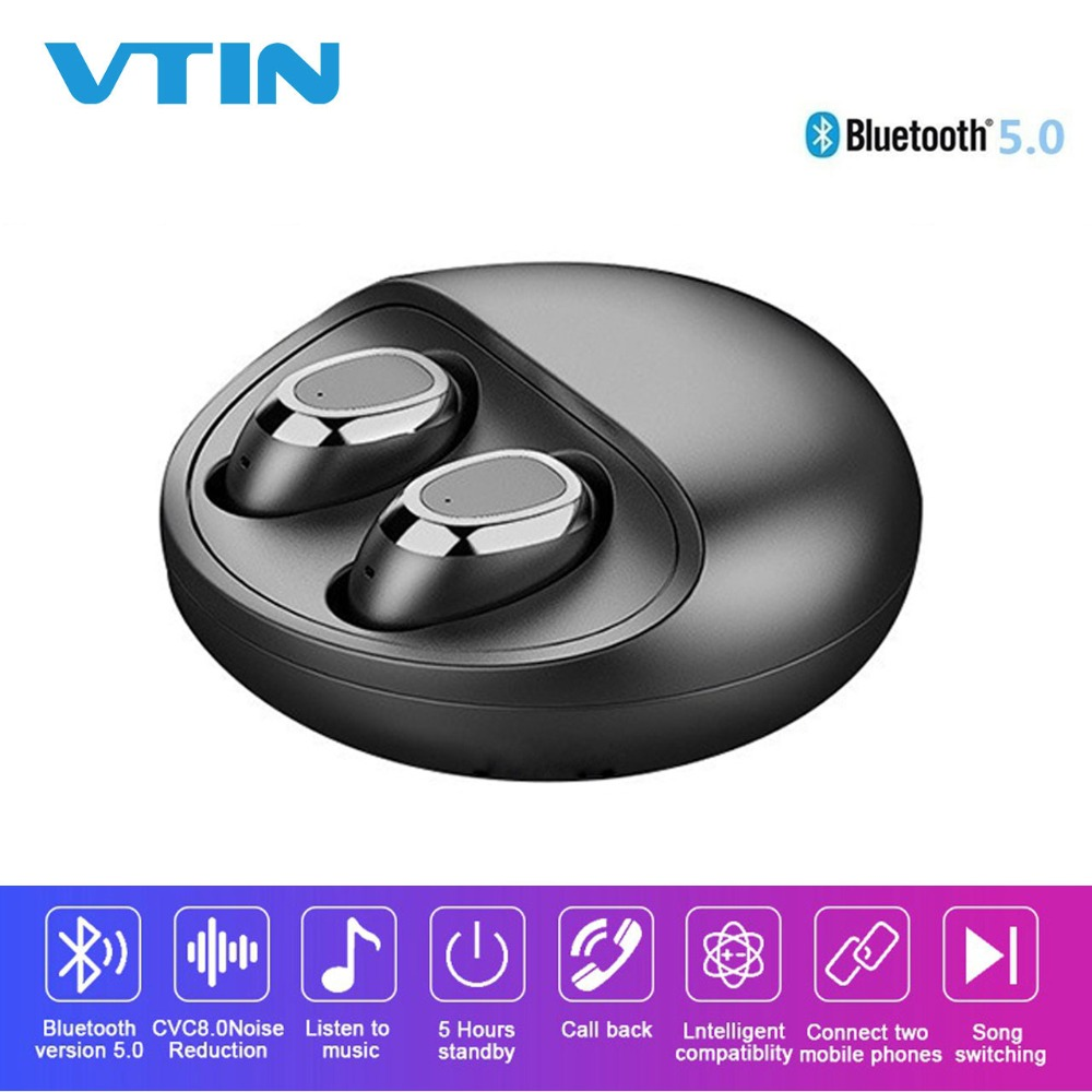New Bluetooth 5 0 Earphones With Crystal Clear Mic Wireless Earbuds Binaural Stereo Noise Cancelling Headphones
