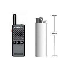 Una pieza HELIDA T-M2 radio súper pequeño portátil receptor de FM profesional walkie talkie de dos vías de radio 16 canales 400-520 MHZ