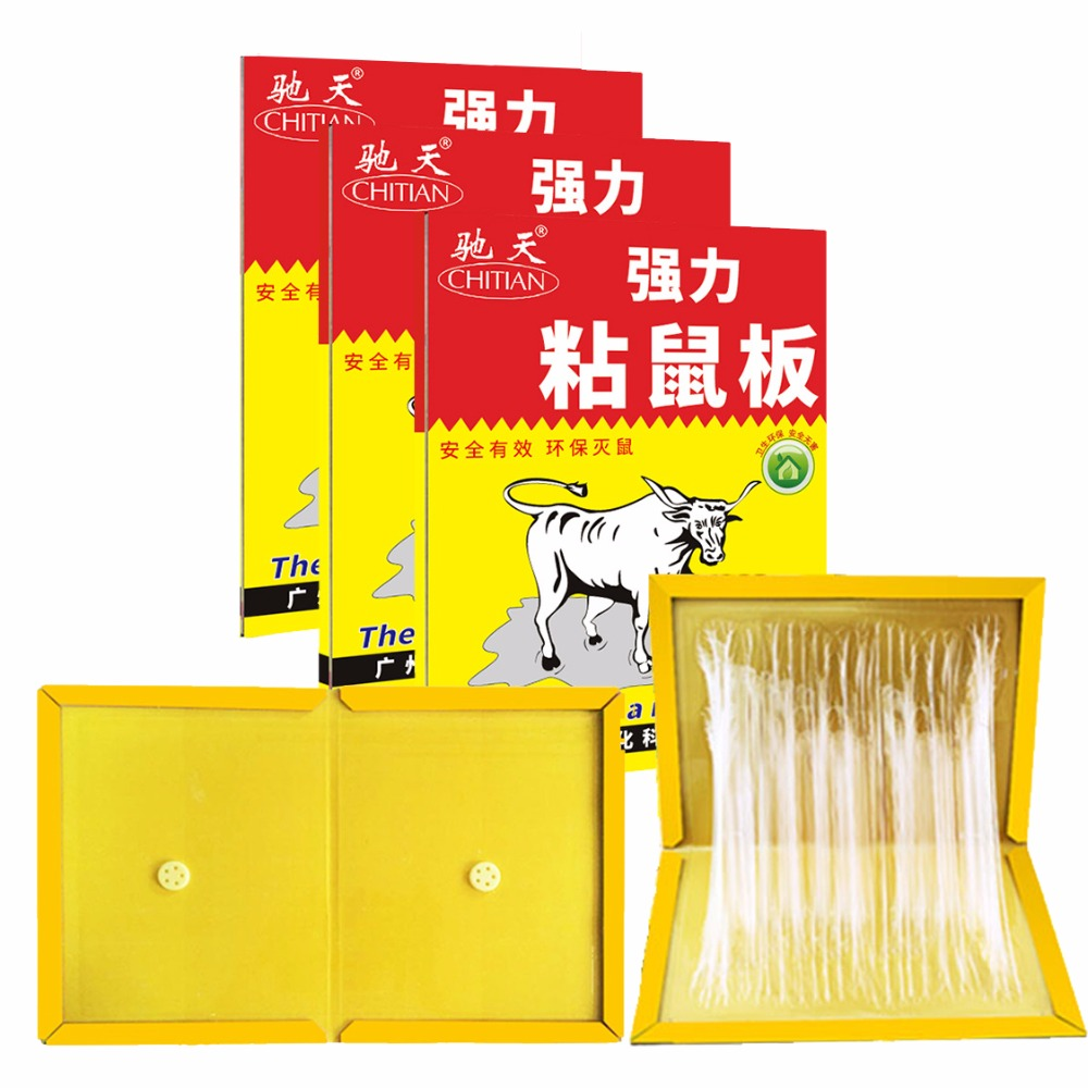 Mouse Board Sticky Rat Glue Trap Mouse Glue Board Mice Catcher Non-toxic Environmentally Products ...