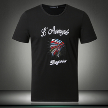 2019 New Fashion Men T-shirts Summer Solid Indian Indigenous Print Pattern Short Sleeve O-neck Tees 4XL 5XL White Black #81858
