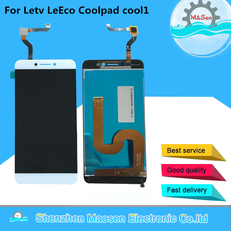 M&Sen For Letv LeEco Coolpad cool1 cool 1 c106 LCD screen display+touch digitizer white/Gold free shipping