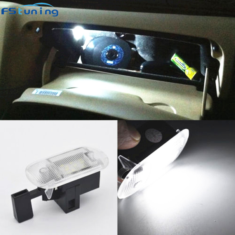 FSTUNING LED glove box lamp light for VW Bettle Bora Golf Variant Caddy Touran Touareg for Skoda Superb Fabia Yeti Octavia jeazea glove box light storage compartment lamp 1j0947301 1j0 947 301 for vw jetta golf bora octavia 2000 2001 2002 2003 2004