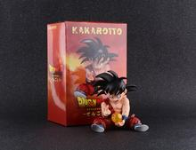10cm japanese anime Dragon Ball PVC Action Figure Toy GK Sitting Dragon Ball Z War damage Goku car Decoration Model Toy kid gift