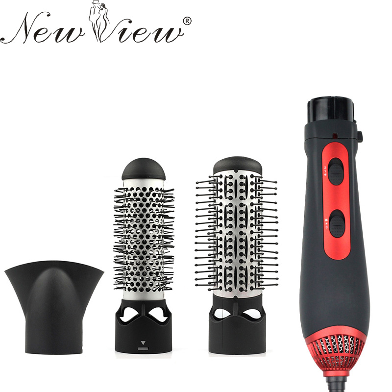 NewView Multifunctional Styling Tools Hairdryer Hair Curling Straightening Comb Brush Hair Dryer Professinal Salon 220V 1200W professinal multifunctional hairdryer curler hair curling straightening diffuser comb brush hair dryer styling tools home use 47