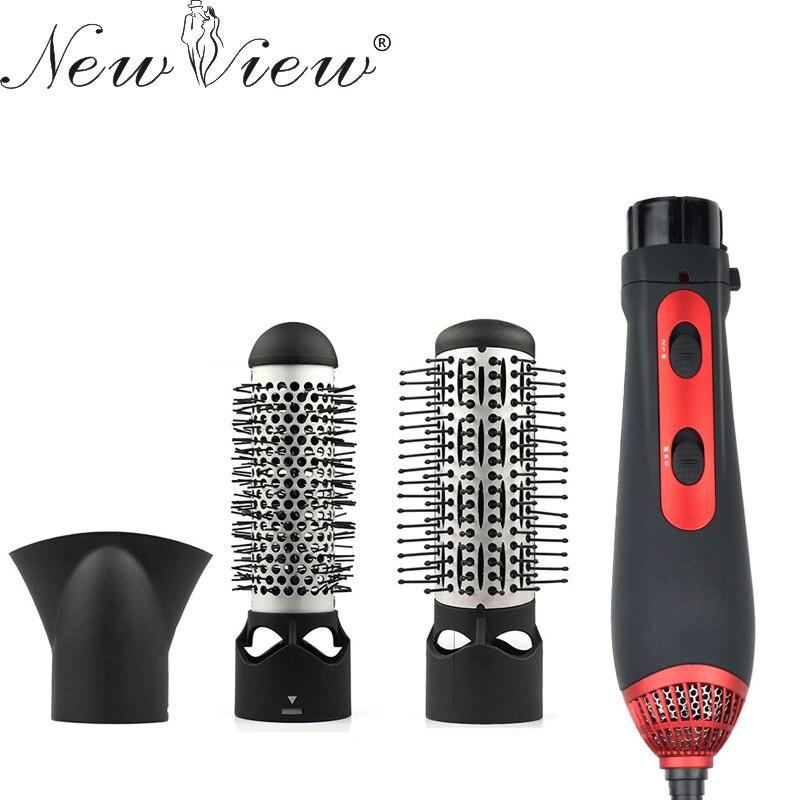 Newview multifuncional Utensilios para el pelo secador de pelo curling enderezamiento peine Cepillos pelo professinal salon 220 V 1200 W