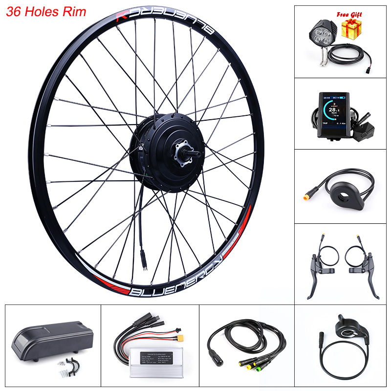 BLUENERGY Bafang Front Hub Motor Conversion Kit In Electric Bicycle Motor 48V 500W Ebike Wheel Drive