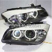 For BMW X1 E84 LED Strip Angel Eyes Head Light 2009 2014 year DB