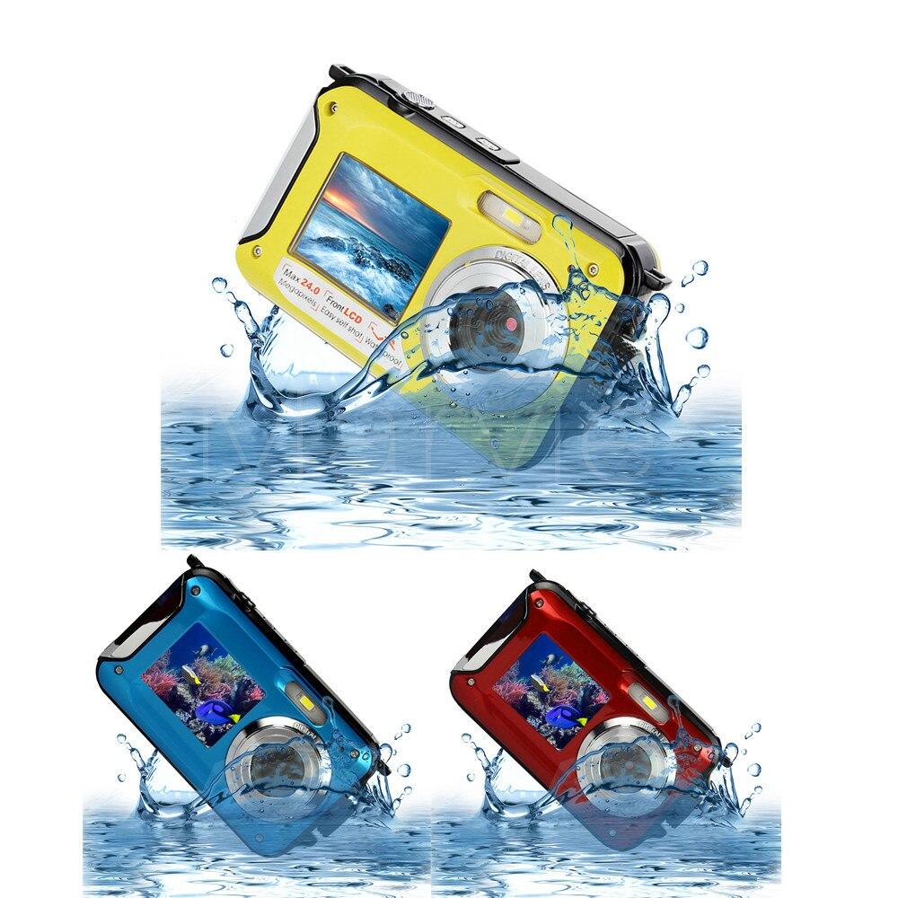 New Dual Screens Waterproof Shockproof 24MP 1080P Digital Photo Video Camera Camcorder