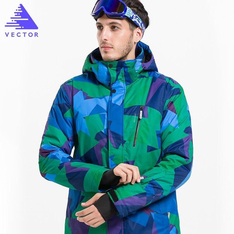 Vestes de Ski d'hiver de marque VECTOR hommes vestes de Snowboard imperméables thermiques en plein air escalade vêtements de Ski de neige HXF70002 - 3