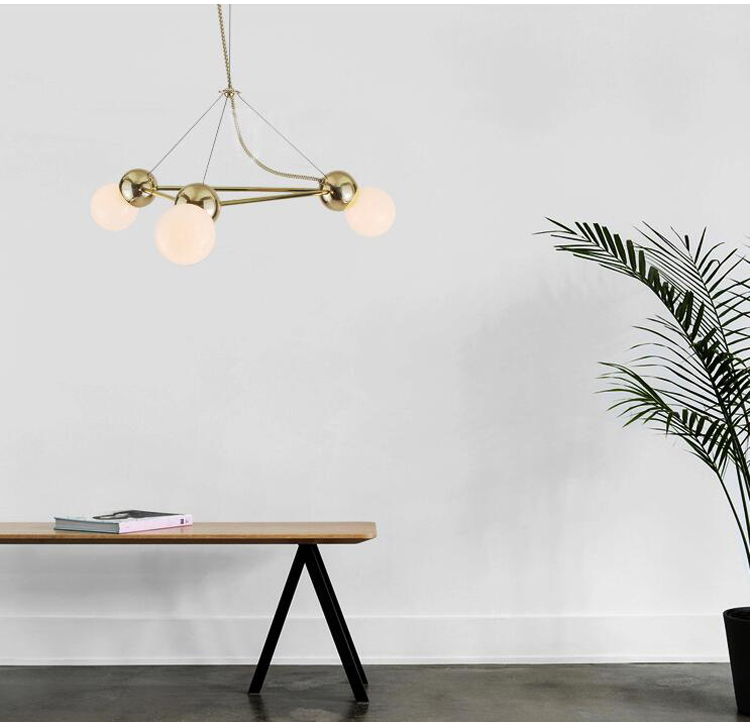 Nordic Modern Chandelier Light Magic Bean Bronze Chandelier Creative Living Room Bedroom Villa Chandelier Lighting included BulbNordic Modern Chandelier Light Magic Bean Bronze Chandelier Creative Living Room Bedroom Villa Chandelier Lighting included Bulb