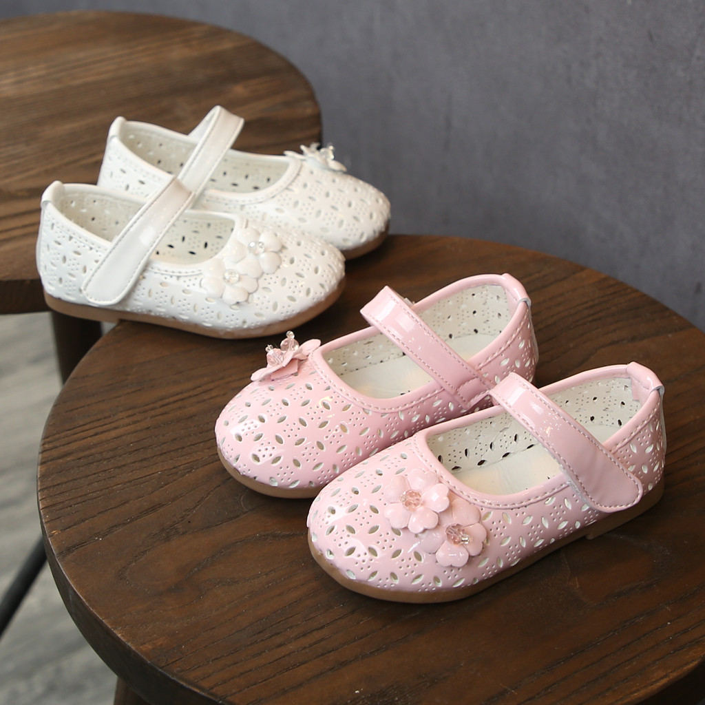 2019 Toddler Children Kids Girl Sandals Baby Princess Flats Single Shoes Hollow