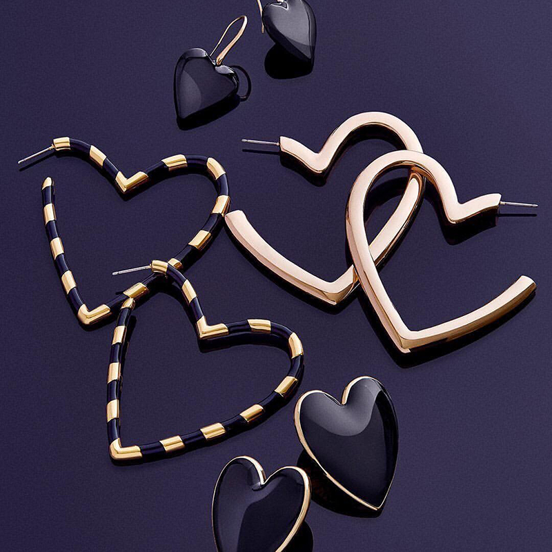 Latest Heart Drop Earrings for Women - 32 Designs