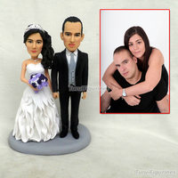 custom figurine wedding cake figurine dog doll photo doll keychain decorated wedding cakes decorating sculpture clay miniature