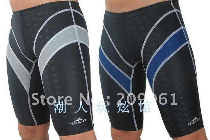 2 color high quality professional shark skin sharkskin swimwear men's swimming wear trunks wholesale free shipping