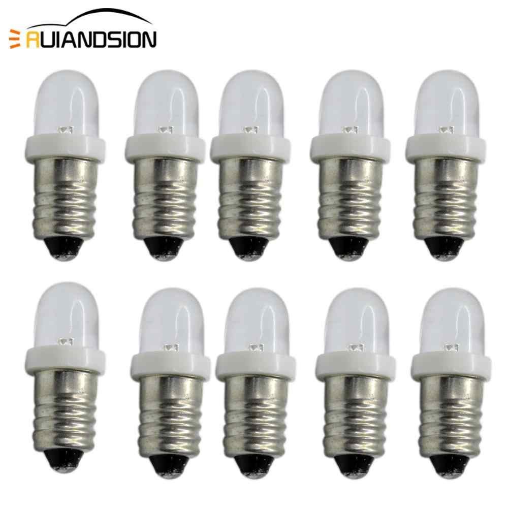 10x E10 CREE LED 6V 12V 24V Cold White Warm White Flashlight Lamp Light Bulb