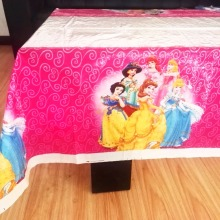 108cm*180cm Ariel/Snow White/Belle/Cinderella/Jasmine/Aurora Princess Plastic Table Cloth For Kids Birthday Party Decoration