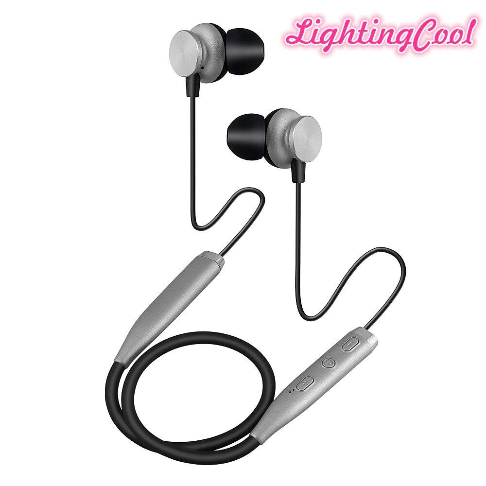 Bluetooth Headphones Retractable Earbuds Neckband Wireless Headset Sport Sweatproof Earphones With Mic For Mobile Phones