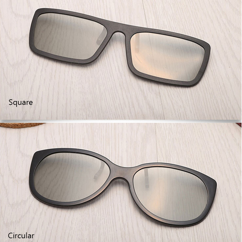 Fansaco Universal 3D Glasses Clip Myopia Glasses Clip Virtual Reality Glass Circular Square For TV Movie Film Cinema Projector