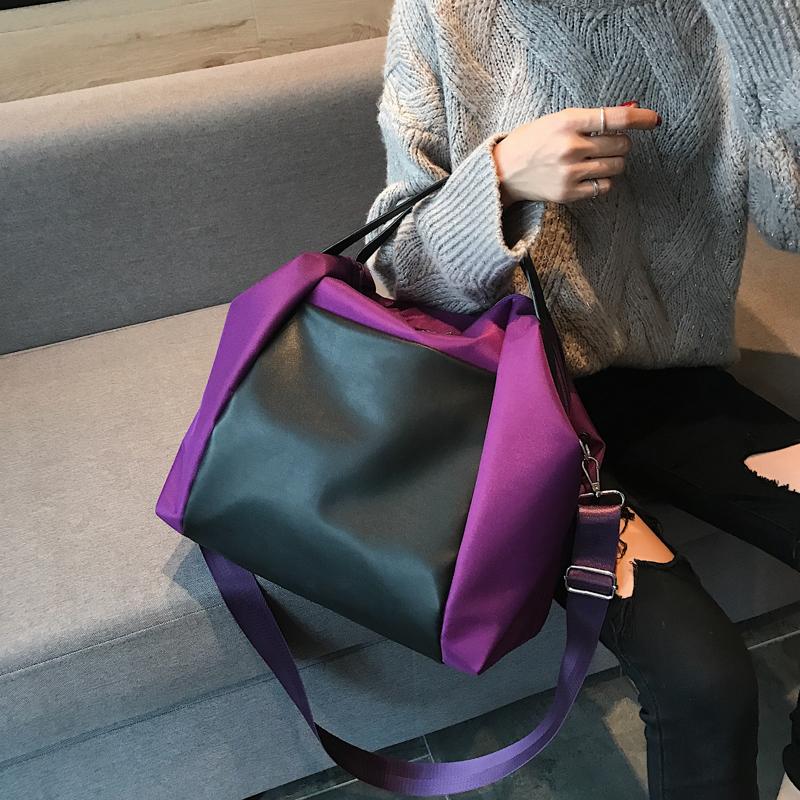 Large Capacity Women Beach Bags Shoulder Mummy Handbag WaterProof Nylon Folding Tote Long Large Capacious Shopping Bags 33
