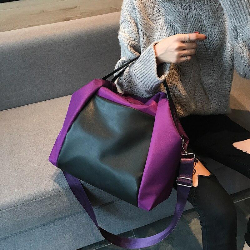 Large Capacity Women Beach Bags Shoulder Mummy Handbag WaterProof Nylon Folding Tote Long Large Capacious Shopping Bags 29