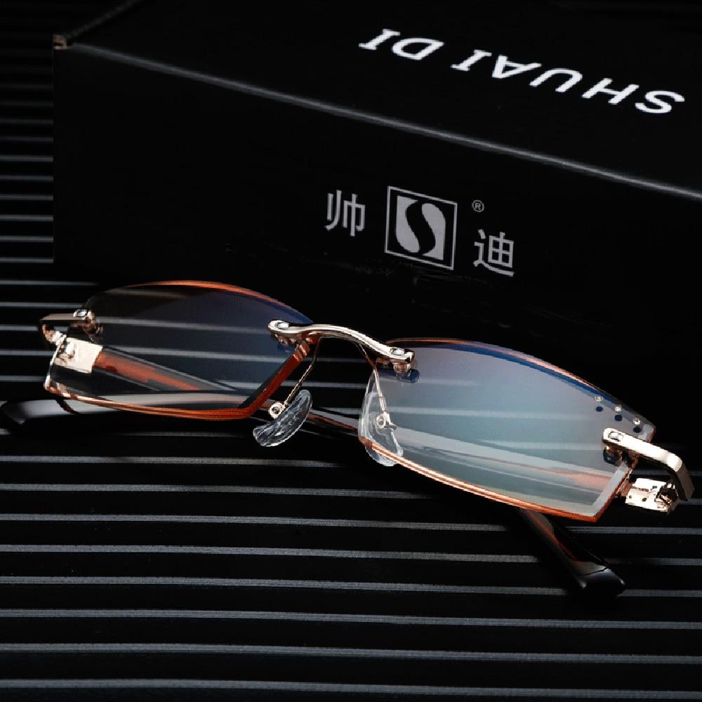 2019 новая распродажа очки для чтения Для мужчин Leesbril Shuaidi = без оправы ультра светильник очки для чтения + 0,75 + 1 + 1,25 + 1,75 до + 4 с Чехол|Мужские очки для чтения|   | АлиЭкспресс