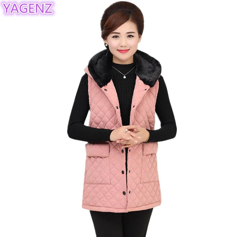 YAGENZ Середній вік Плюс жилет Жіноча - Жіночий одяг