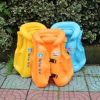3 Size Child Safety Thick PVC Inflatable Life Jacket Swimsuit Swim Vest Kids Inflatable Life Vest