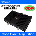 Mobile Booster Triband Signal Amplifier 900 1800 2100 GSM Repeater Tri Band with ALC/MGC Cell Phone Signal Repeater Booster