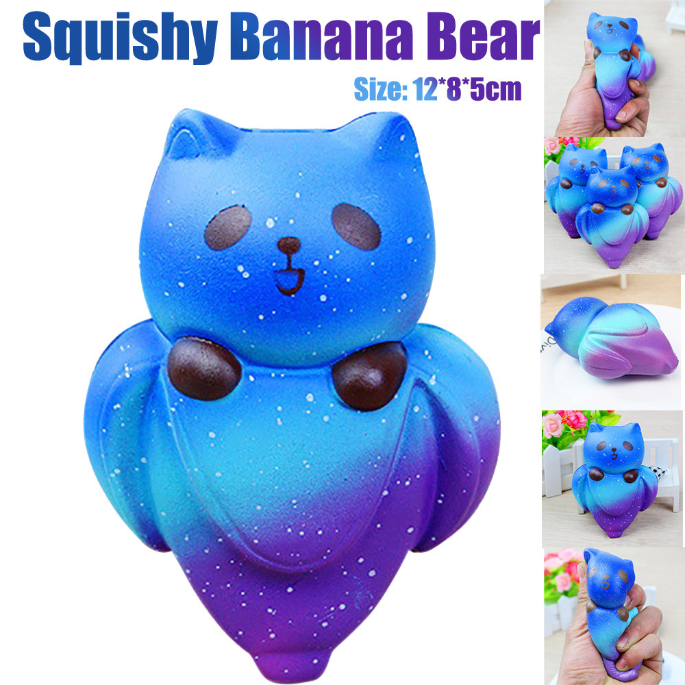 MUQGEW 2018 Starry Cute 12CM Squeeze Fun Banana Bear Cream Scented Squishy Slow Rising Squeeze Kids Toy Jouet Enfant Z06