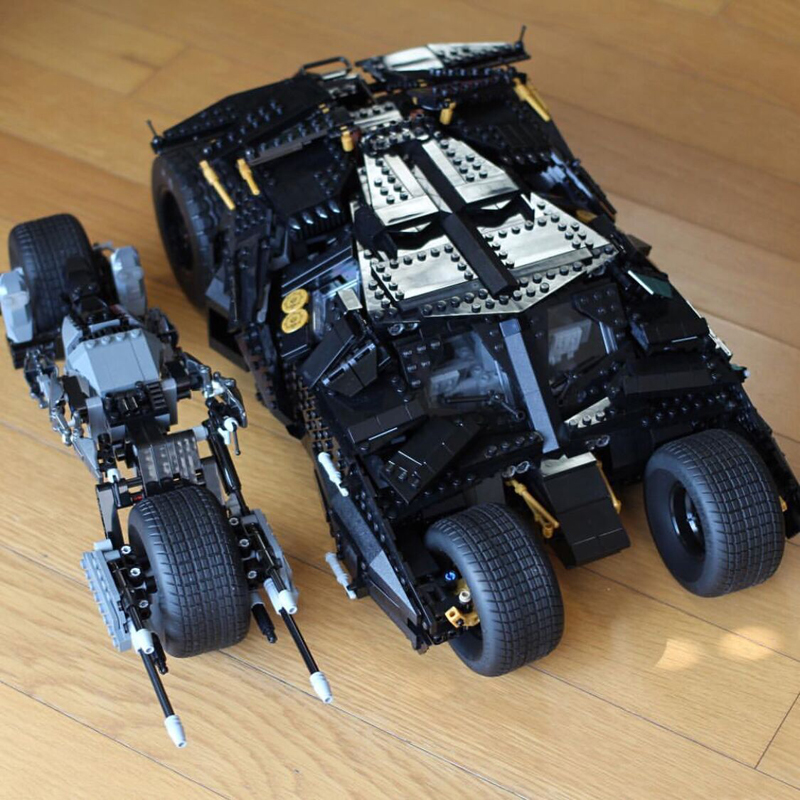 Lepin 07060 1909PCS Super Hero Series The Tumbler Batman Armored Chariot Sets Model Building Kits Blocks Bricks Boys Toys 76023 lepin 07060 super series heroes movie the batman armored chariot set diy model batmobile building blocks bricks children toys
