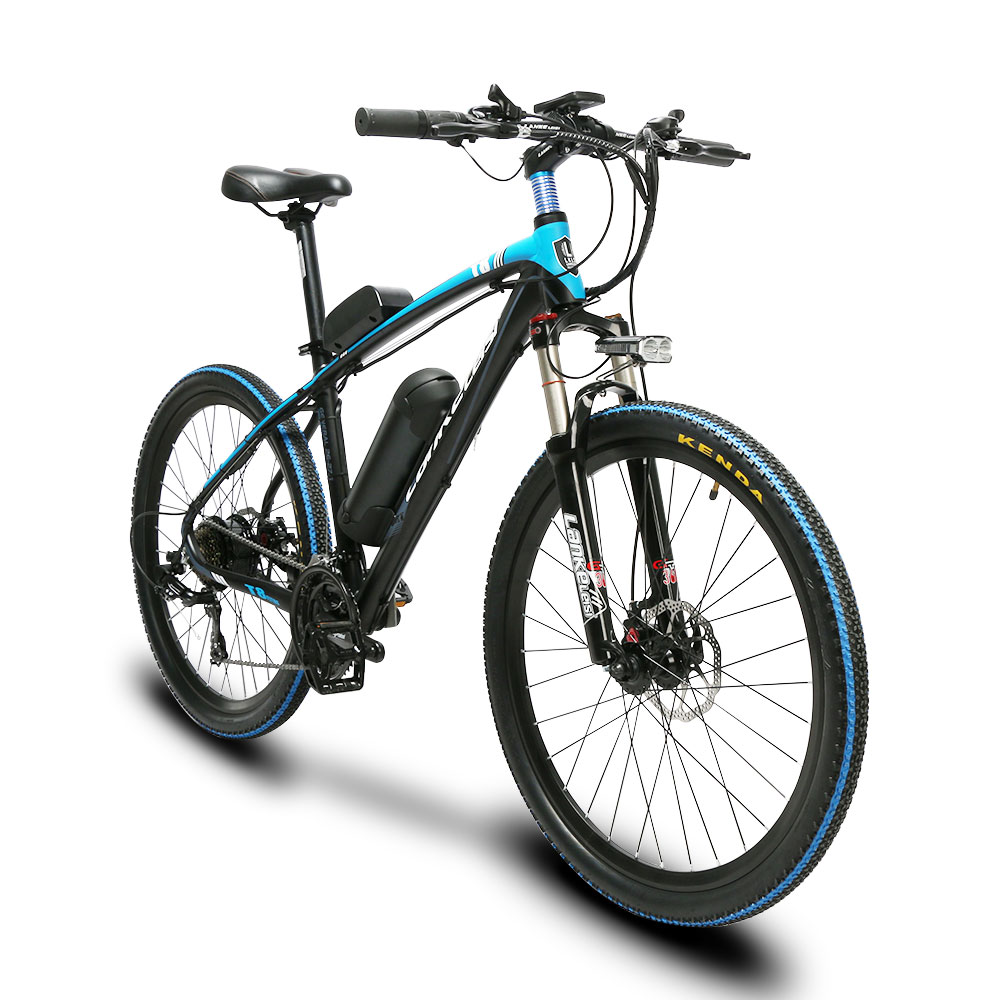 Lankeleisi MX3.8 Mans Fast 21 Speeds Moutain Electric Bicycle 240Watt 48V 10HA Double Disc Brakes 19KG Only Freeshipping