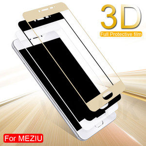 3D Full Cover Protective Glass On The For Meizu M3 M5 M6 Note M6 M6S M6T M3S M3E M5S M5C Pro 7 Tempered Screen Protector Glass(China)