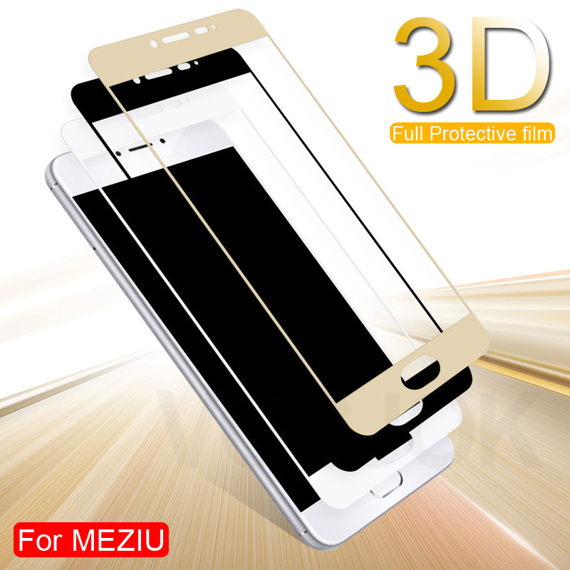 3D Full Cover Protective Glass On The For <font><b>Meizu</b></font> M3 M5 M6 Note M6 M6S M6T M3S M3E M5S <font><b>M5C</b></font> Pro 7 Tempered Screen Protector Glass image