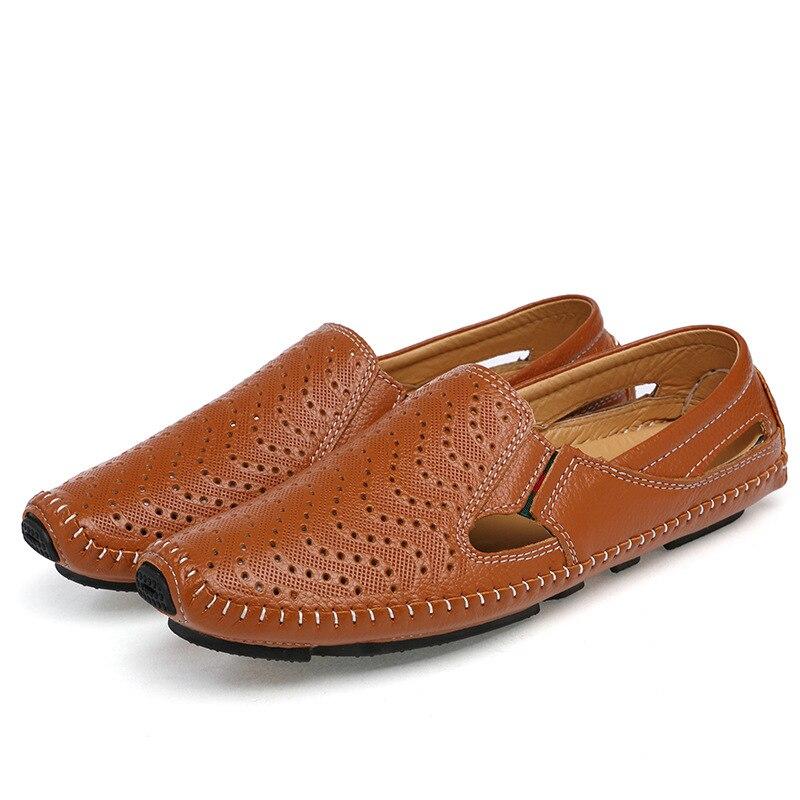 Chaussures brown Souple Noir Profonde Cuir Respirant En Peu Hommes À blanc Chaude slip Semelle Aa60828 Casual Vente Sur Anti Creux Plat 7xwqUUHt