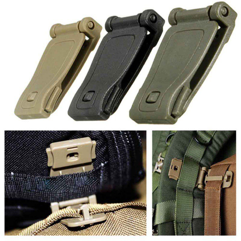 Outdoor Tactical Bag Buckle Military First Aid Backpack Fixed Buckle Webbing Belt Clip Clasp Safety First Aid Kits