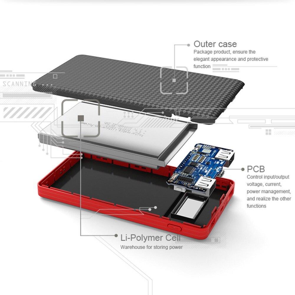 Banco do Poder 6000 mah li-bateria de polímero Bateria : Li-bateria de Polímero