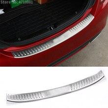 Couvercle de protection de plaque de coffre arrière en acier inoxydable, pour Mercedes Benz classe C W205 C200 C180 C260 C63 2015 2016